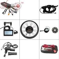 """Black 48v 1500w 24"""" Fat Bike Fat Tire Rear Wheel Ebike Conversion Kit Sine Wave"""