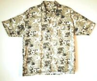 SUMMA Men's Hawaiian Print Shirt Button Up Short Sleeve Pocket Size XL EUC!