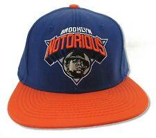 NOTORIOUS B.I.G. BIGGIE SMALLS LOGO BLUE ORANGE BASEBALL HAT CAP NEW OFFICIAL