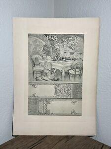 Original Alphonse Mucha Print, Documents Decoratifs 1902, Plate #72, Art Nouveau
