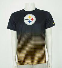 Nike Dri-Fit Pittsburgh Steelers Black Training Tee Shirt Mens Medium