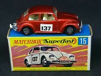 Matchbox MB15-A5 Superfast - Volkswagen Beetle 1500 in Type G Box