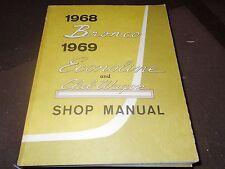NOS 1968 FORD BRONCO 1969 ECONOLINE CLUB WAGON SHOP SERVICE MANUAL ORIGINAL
