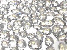 80 x TRANSPARENT Facettes Acrylique à coudre, à coller sur cristal strass gemmes