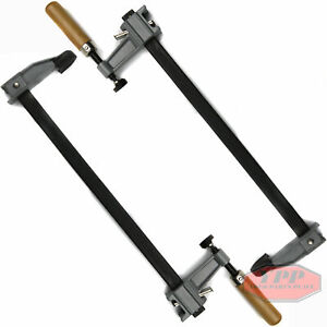 "12"" Bar Clamps Adjustable Heavy Duty Quick Release Wooden Handle 2 Pack"