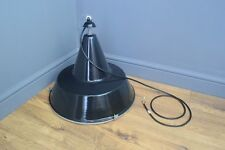 Large Black Industrial Pendant Light 'rewired and PAT tested' - 6 available