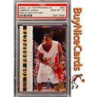 2003 Lebron James UD Top Prospects Gold RC Rookie /100 PSA 10 Pop 4