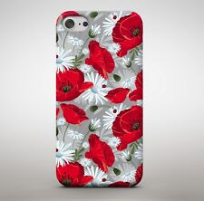 Beautiful Red Tulips Flower Petals Pattern Nature Floral Phone Case Cover