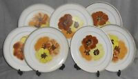 Set (7) Denby POTPOURRI - SAN GABRIEL PATTERN Dinner Plates MADE IN ENGLAND