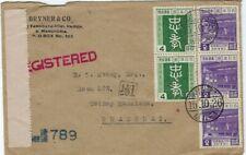 Japan Manchuria China 1940 registred cover Dairen to Shanghai
