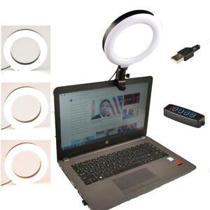 "6"" Ring Light Selfie Fill Light w/ Clamp Clip Video Vlog Makeup Conference Lamp"