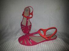 MEL Dreamed by MELISSA Pink & Coral Fisherman Sandals-Size 7-Excellent