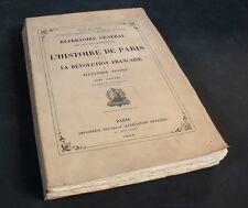 Sources Manuscrites de l'HISTOIRE de PARIS pendant la RÉVOLUTION /  1905