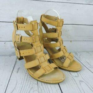 White Mountain Women's Heels 6 Brown Sandal Summer Dress Shoe Adjustable