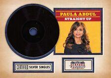 2015 Panini Americana CERTIFIED SINGLES Insert #1 / Straight Up by PAULA ABDUL