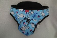 Bolvode Dog Diaper Washable Reusable Blue Adjustable Strap Medium to Large New
