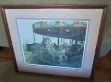 Abandoned Carousel by RJ Luczkow 1979, signed & numbered