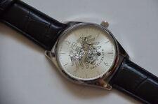 ARMBANDUHR BUNDESADLER Uhr 4cm silber Armband Kroko Optik schwarz breit 2cm