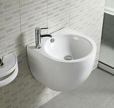 Bathroom Wall Mount Bathroom White Porcelain Ceramic Vessel Sink combo 500F