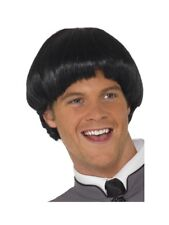 BLACK MOP Parrucca BOWL Cut Uomo 60s Fancy Dress celebrity Accessorio