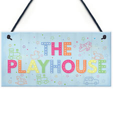 Child's Playhouse Sign Door Wall Plaque Son Daughter Birthday Gift Home Decor