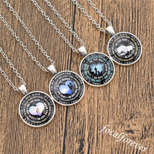To My Son/Daughter Cabochon Glass Pendant Necklace Silver Chain Father Day Gift