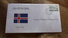 1980 IOC OLYMPIC GAMES STAMP ISSUE FDC, ICELAND IOC ISSUE