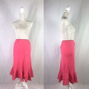 Boden Floaty Long Maxi Skirt Size 16 L Pink Pretty Summer Holiday