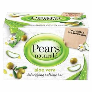 Pears Naturalé Aloe Vera Detoxifying Soap Bar, 125 g (Pack of 3)