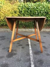 Vintage Mid Century Ercol Solid Elm Drop-Leaf Extending Kitchen Dining Table