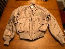 USAF TAN NOMEX FIRE RESISTANT COLD WEATHER FLYERS JACKET CWU-45/P - LARGE