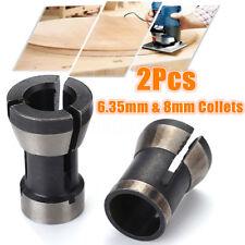 2PCS 6.35mm 8mm Collet Mandrin Gravure Défonceuse Machine Électrique Router