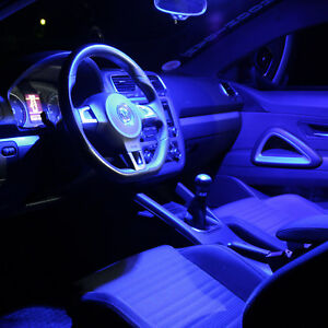 VW Polo 9N 9N2 Interior Lights Set Package Kit 8 LED SMD blue 1533