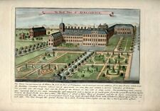 "RARE HAND-COLORED ENGRAVING - ""THE ROYAL PALACE OF KENSINGTON"""
