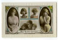 1910s Children Chld Pretty LITTLE JOAN & JOHN Gladys Cooper Kids photo postcard