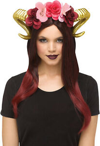 Deluxe Dragon Forest Fairy Gold Headband Horned Horn Costume Accessory
