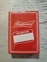 New Budweiser Playing Cards Factory Sealed