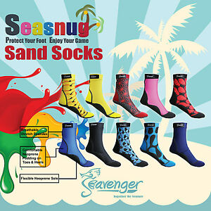 Seavenger SeaSnug Lycra Neoprene Beach Volleyball Soccer Lake Water Fin Socks