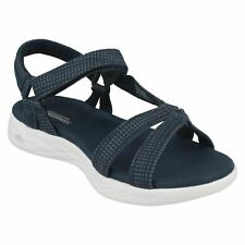 Ladies Skechers Navy Casual Strappy Sandals : Brilliancy 15316
