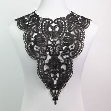 1 Pc Black Fabric Dress Applique Necklace Collar Venise Lace Craft Sewing Craft