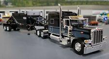 1/64 DCP PETERBILT 389 BLACK & GRAY WITH BOTTOM DUMP TRAILER NEW IN BOX