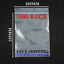 1000 Resealable Zip Lock plastic bags 255MM X 205MM + FREE SHIPPING