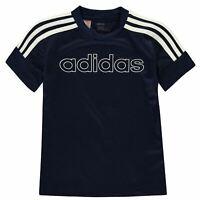 adidas Kids Boys Sereno T Shirt Junior Short Sleeve Performance Tee Top Crew