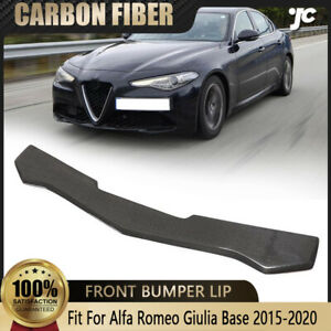 Fits Alfa Romeo Giulia Base 2015-2020 Front Bumper Lip Spoiler Chin Carbon Fiber