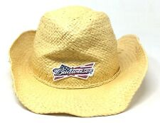 14cea34b1 Budweiser Men's Americana Straw Cowboy Hat With USA Logo Brown One Size  Fits All