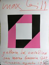 MAX BILL - AFFICHE ORIGINALE SERIGRAPHIE POUR LA GALLERIA DEL CAVALLINO VENEZIA