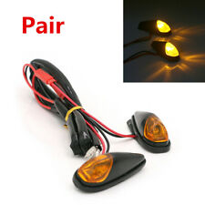 2X 12V 5W Mini Motorcycle LED Turn Signal Indicator Light Amber Lamp Waterproof