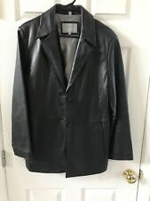 JULIET MICHELLE by ADLER  Black Leather Coat sz L