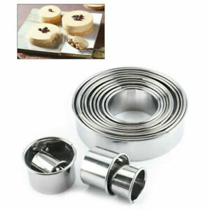 14pcs Round Cookie Cake Cutter Mold Pastry Baking DIY Metal Rings Moulds Set