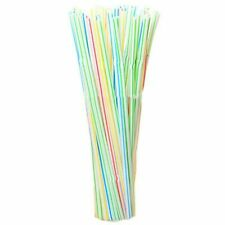 100Pcs Disposable Flexible Straws Plastic Drinking Supplies S6C3